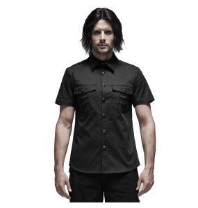 Black 'Detroit' Short Sleeves Shirt