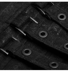 Black Striped Gothic 'Nostalgic Lover' Waistcoat