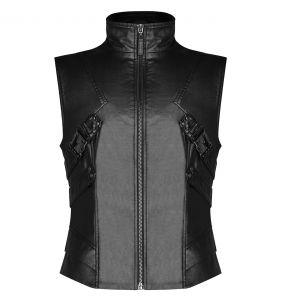 Black 'Orkus' Gothic Waistcoat