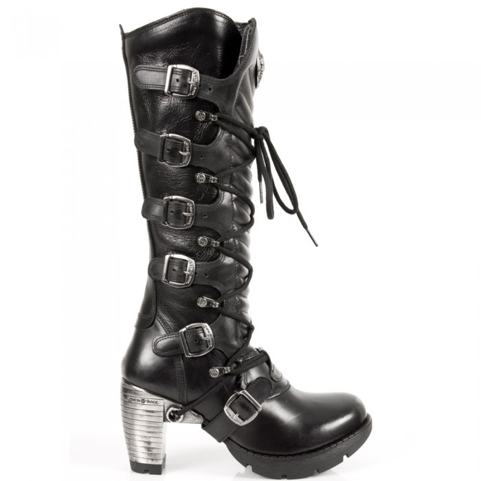 Black Itali and Nomada Leather New Rock Trail High Boots
