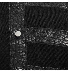 Gilet Gothique 'Panzer' Noir