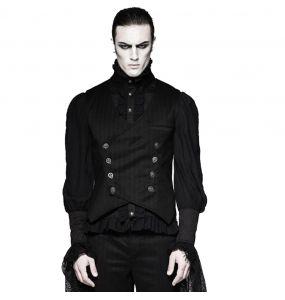 Gothic Victorian Style 'Cagliostro' Black Vest
