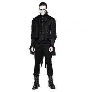 Gilet Gothique Victorien 'Cagliostro' Noir