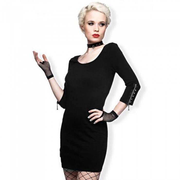 Black 'Sexy Lady' Mini Dress