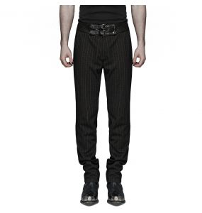 Black and Brown Steampunk 'Mad Hatter' Pants