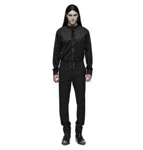 Pantalon 'Noctivagus' en Jacquard Noir