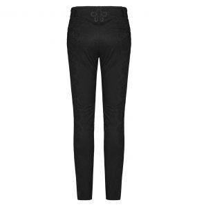 Black 'Noctivagus' Jacquard Pants
