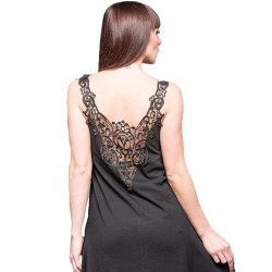 Black Long Dress with Lace on the Back