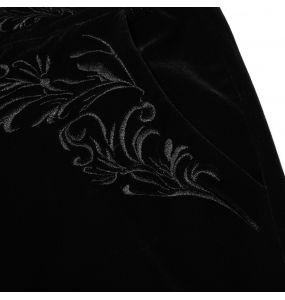 Black 'Hamlet' Velvet Pants