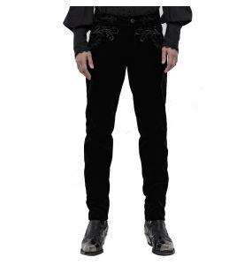 Pantalon 'Hamlet' en Velours Noir