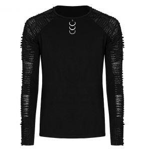 Black 'Nazgul' Long Sleeves Sweater