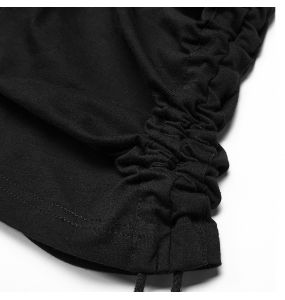 Black 'Manticore' Hooded Assymetric Sweater