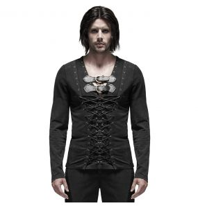 Polo Manches Longues 'Medieval Vampire II' Noir