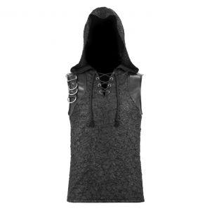 Black 'Haboolm' Hooded T-Shirt