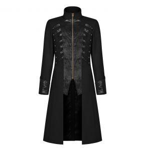 Black 'Nautilus' Gothic Coat
