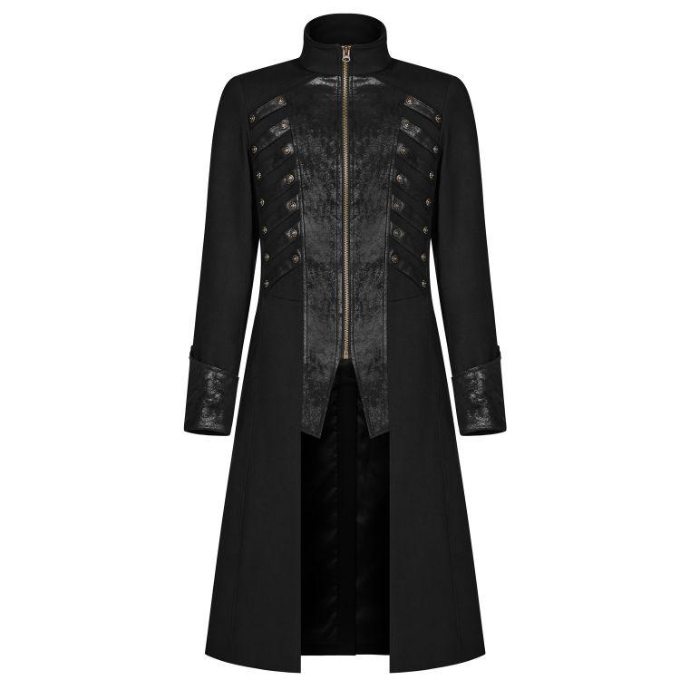 Manteau Gothique 'Nautilus' Noir