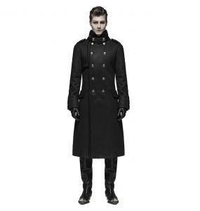 Manteau Style Militaire 'Gotham' Noir