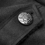 Black 'Gotham' Military Style Coat