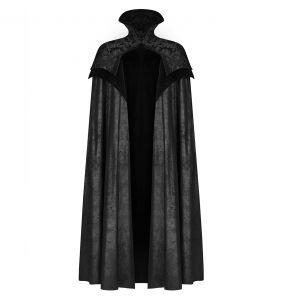 Long Manteau Cape Gothique Victorien 'Illuminati' Noir