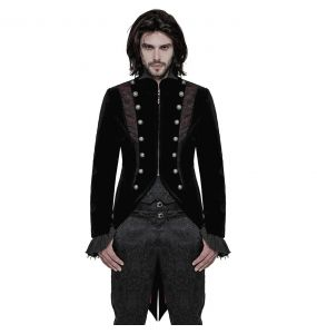 Black and Red 'Lasombra' Swallowtail Jacket