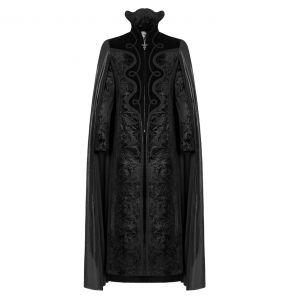 Long Manteau Cape Gothique 'Vampyr' Noir