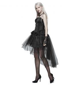 Black 'Lyriel' Asymmetric Skirt