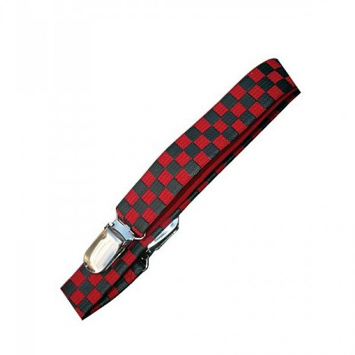 Red and Black Checkerboard Suspenders