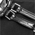 Black PVC 'Techno Geisha' Stockings