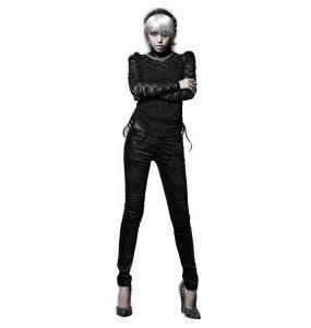 Black 'Damask' Pants
