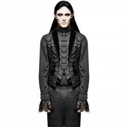 Black Victorian Gothic 'Vampire Lestat' Swallow Tail Vest
