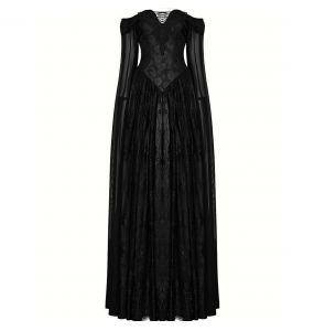 Black 'Celestia' Long Wedding Dress