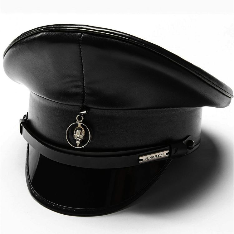 Casquette Gothique 'Militia' Noire