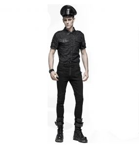 Black Gothic 'Militia' Cap