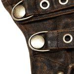 Brown Steampunk 'Mad Max' Gloves