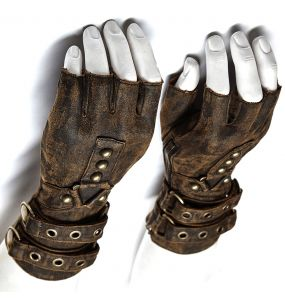 Gants Steampunk 'Mad Max' Marrons