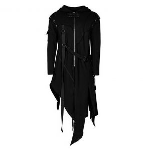 Black 'Faust' Jacket with Removable Sleeves