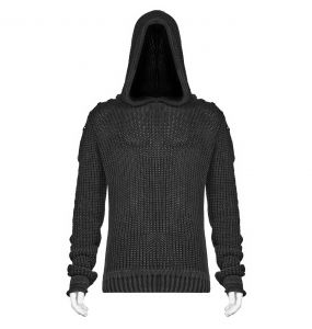Black and Copper 'Mad Hatter' Hooded Sweater