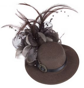 Brown Steampunk 'Kraken' Mini Top Hat
