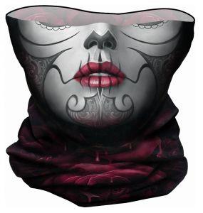 Black 'Blood Rose' Multifunctional Face Wraps