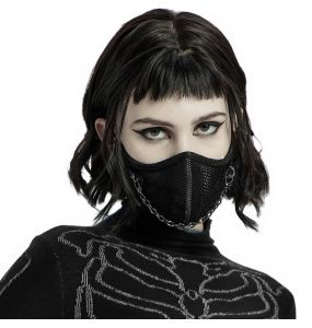 Black 'Punk' Face Mask