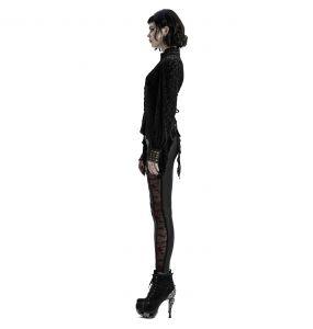 Black and Burgundy 'Hecate' Leggings