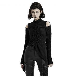Black 'Isolde' Long Sleeves Top