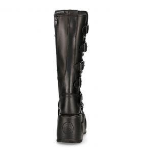 Black Itali and Nomada Leather New Rock Metallic High Platform Boots