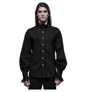 Black 'Asmodeus' Victorian Shirt