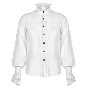 White 'Asmodeus' Victorian Shirt