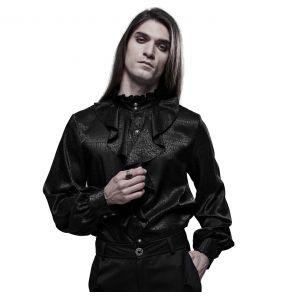 Black 'Valerian' Jacquard Shirt