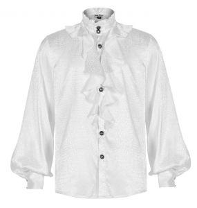 White 'Valerian' Jacquard Shirt