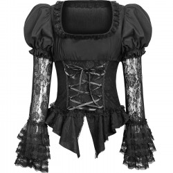 Chemisier Gothic Lolita 'Black Dust'