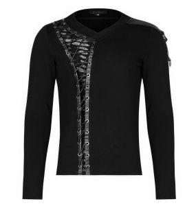 Black 'Dark Devil' Long Sleeves Top