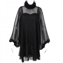 Mini Robe 'Black Cloud' Noire